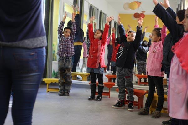 En photos : Magnifique cours d'éveil musical pour les enfants d'une école primaire