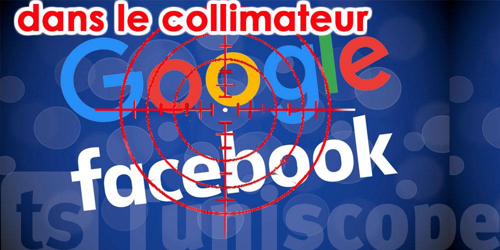 Les États-Unis menacent de démanteler Facebook ou Google