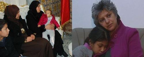 La veuve de Chokri Belaïd rend visite à la veuve du policier Lotfi Ezar