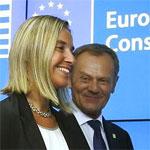 Donald Tusk et Federica Mogherini le 31 mars à Tunis
