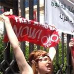 Les Femen arrêtées devant le palais de Justice, deux Françaises et une Allemande