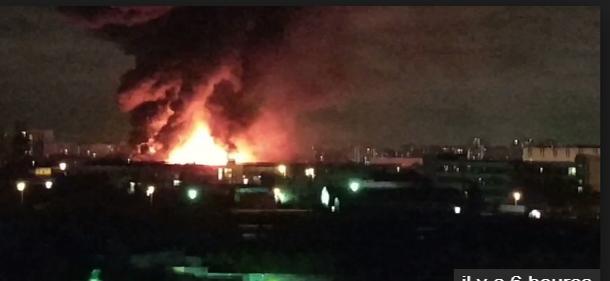 حريق ضخم في مستودع مواد كيماوية في موسكو