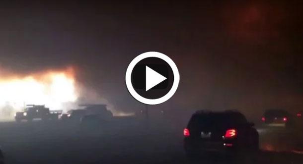 فيديو: حريق هائل يجبر الآلاف في كندا على الفرار