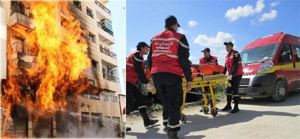 إثر نشوب حريق: إنقاذ مواطنين من موت محقق