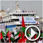 فيديو من أسطول الحرية لحظات قبل الانطلاق
