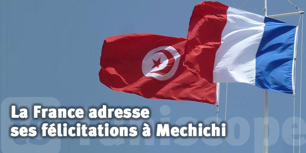 La France adresse ses plus vives félicitations à Mechichi et son gouvernement