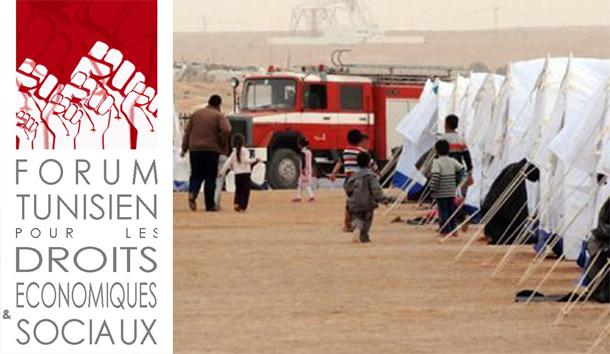 Le FTDES dénonce l'opération d'évacuation forcée du camp Choucha et le refus de dialogue avec les réfugiés