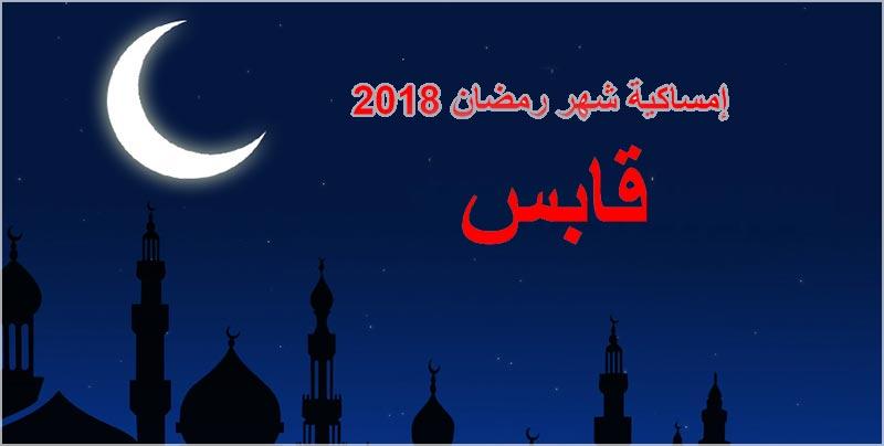 إمساكية شهر رمضان بولاية قابس