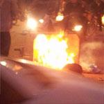 فيديو و صور ..احتجاجات وحرق للعجلات المطاطية وسط مدينة قابس