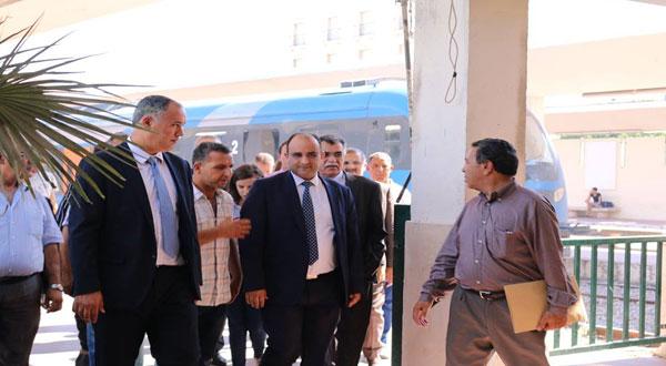 وزير النقل في زيارة تفقدية لمحطة القطارات ببرشلونة