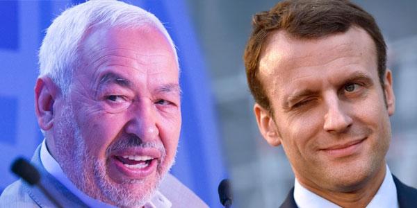 Le message de Rached Ghannouchi à Emmanuel Macron
