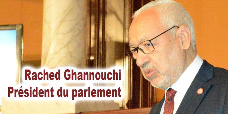 Rached Ghannouchi élu président du parlement