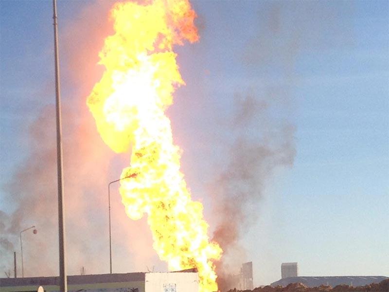 صور إنفجار أنبوب الغاز بغنّوش