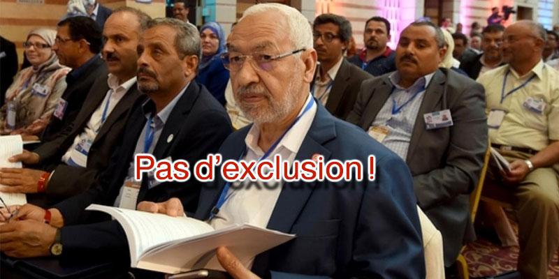 Ghanouchi : L'exclusion n'est pas au service de la révolution