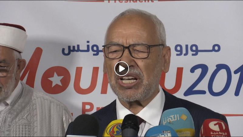 Vidéo : ''Mourou n'était pas l'oiseau rare d'Ennahdha'', avoue Ghanouchi