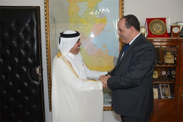 En photo : Najem Gharsalli reçoit l'ambassadeur du Qatar en Tunisie