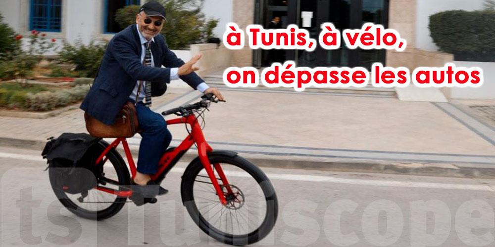Image du jour : Ghazi Karoui arrive à l'ARP à vélo