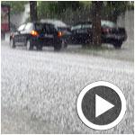 En photos et vidéo : Tunis sous la grêle