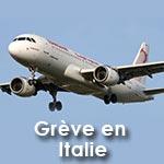 Grève en Italie : Tunisair Reporte tous ses vols sur l'Italie du vendredi 12 au samedi 13 décembre 2014