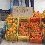 'صورة اليوم: بائع برتقال يضع لافتة على بضاعته كتب عليها 'قريباكس