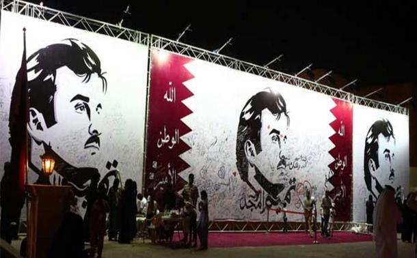 قطر تدشن مشروعا فنيا بمناسبة مرور 100 يوم على حصارها