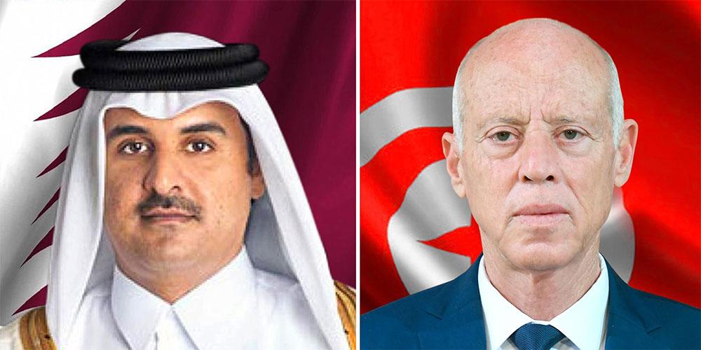 تبادل تهاني العيد بين قيس سعيد و أمير قطر