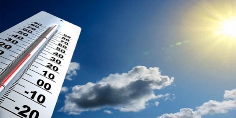 Températures comprises entre 14 et 18 °C, aujourd'hui