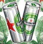 Un nouveau look pour la canette Heineken