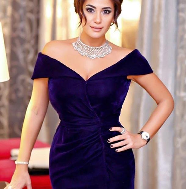 En photos : Hend Sabri, encore une fois habillée par Ali Karoui au Festival international du film de Dubaï