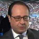 أول ظهور لهولاند بملعب فرنسا عقب هجمات باريس