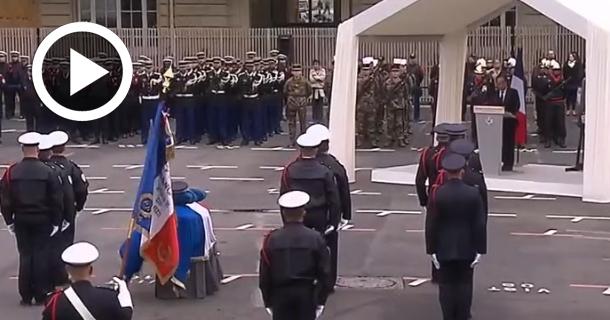 En vidéo : La France rend hommage au policier tué sur les Champs-Elysées