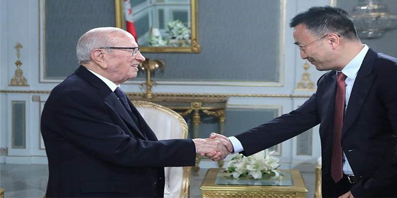 Le vice-président de Huawei Technologies reçu par le président de la République, Béji Caïd Essebsi et les ministres en Tunisie