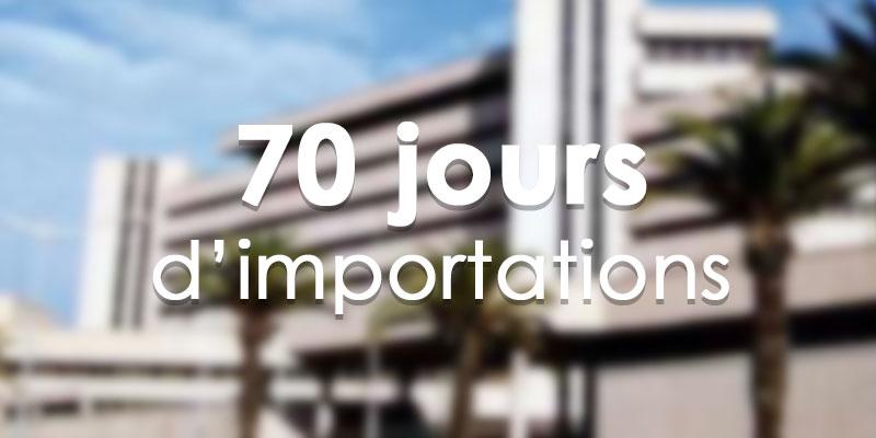 Et maintenant, plus que 70 jours de réserves pour l'importation