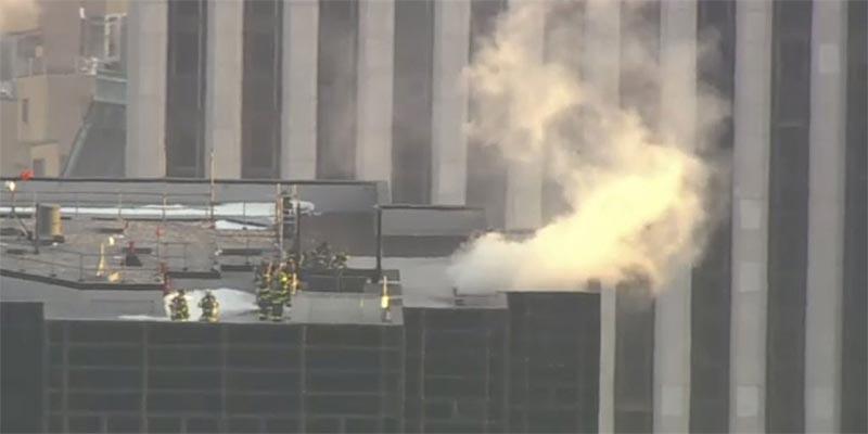 En vidéo : Incendie au sommet de la Trump Tower à New York
