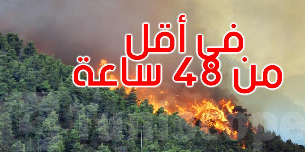 تجدد اندلاع حريق جبل الناظور بغار الملح للمرة الثالثة في أقل من 48 ساعة
