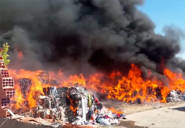L'incendie de l'usine de friperie au Kef a causé d'importants dégâts