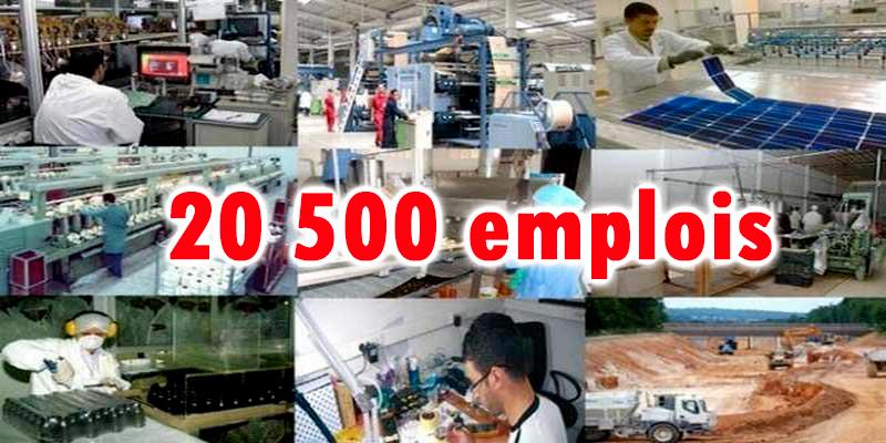 20 500 nouveaux postes d'emplois dans l'industrie