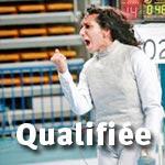 JO Londres Escrime : Ines Boubakri en quarts de finale