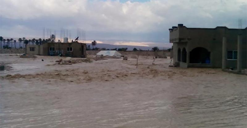 فرنانة: السيول تداهم منزلا واللجنة الجهوية لمجابهة الكوارث على الخط