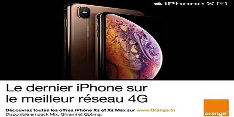 L'iPhone XS  disponible à partir du 23 Novembre  chez Orange Tunisie
