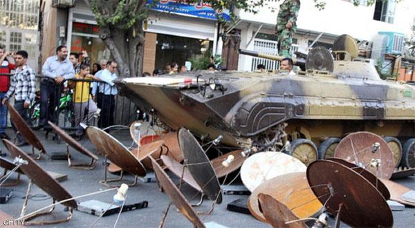 السلطات الإيرانية تدمر 100 ألف طبق لاقط