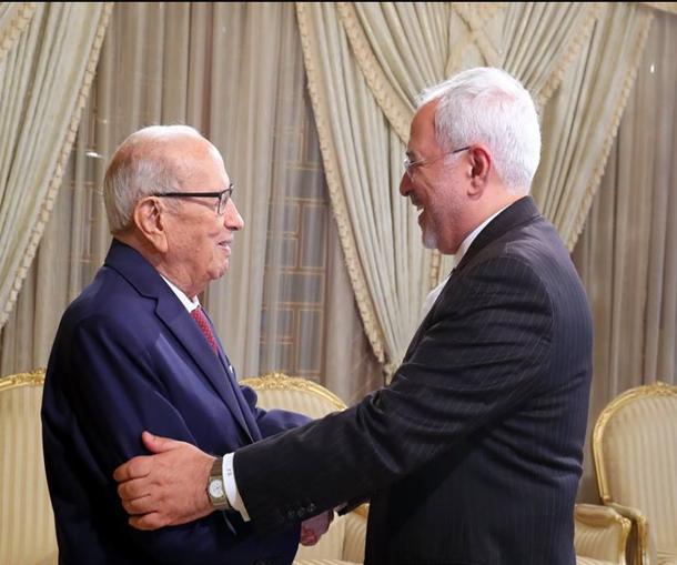رئيس الجمهورية يستقبل وزير الخارجية الايراني