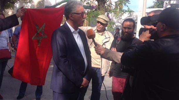 En photos : le Front Populaire organise une marche de soutien au vendeur de poisson au Maroc