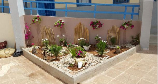 En photos : Un jardin au lycée de Oued Ellil, œuvre de ses propres élèves