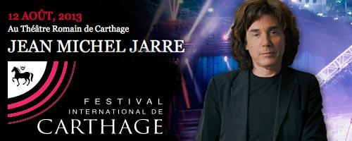 Jean Michel Jarre à Carthage le 12 aôut 2013