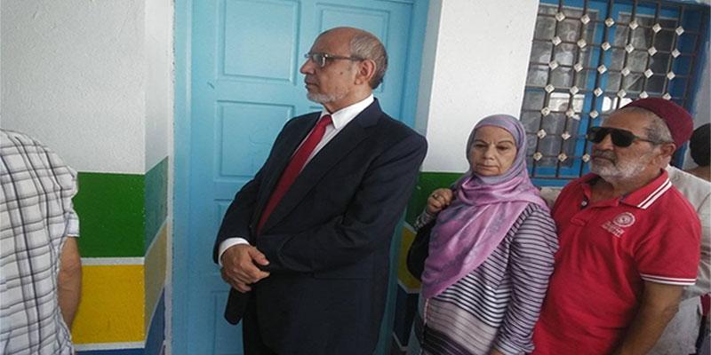 En photos : Hamadi Jebali vote à Sousse