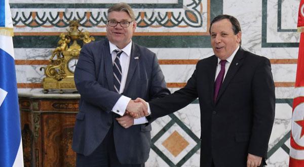 الجهيناوي يستقبل وزير الخارجية الفنلندي