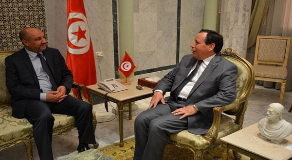 الجهيناوي يستقبل القائم بالأعمال في سفارة ليبيا بتونس