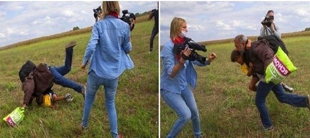 المجر تكافئ المصورة التي ركلت اللاجئ السوري وجابت صورتها العالم
