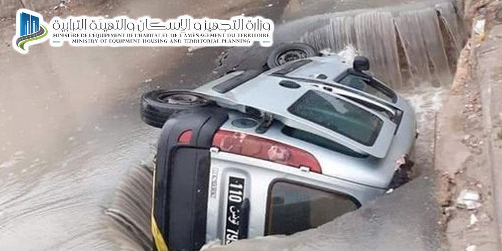 Mise en garde contre l'affaissement de la chaussée à El Kabaria